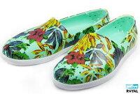 native 輕量懶人鞋、休閒防水鞋到(特價1299)Native 新竹皇家 VERONA 綠色 花舞系列 輕量 水手鞋 女款 NO.I5335
