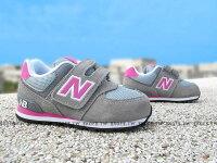 New Balance 美國慢跑鞋/跑步鞋推薦Shoestw【KV574CDI】NEW BALANCE 574 小童鞋 運動鞋 灰色 麂皮 粉紅