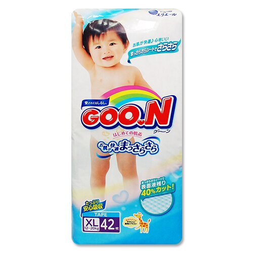 GOO.N日本境內版大王頂級紙尿褲(尿布)XL42片*1包 411元