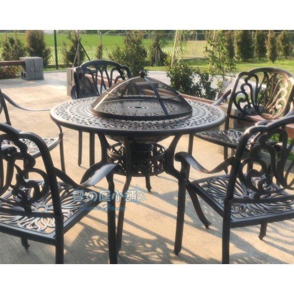 ╭☆雪之屋☆╯ 鑄鋁烤肉桌(DIY自組)(不含椅)/戶外休閒桌椅T-ZL106