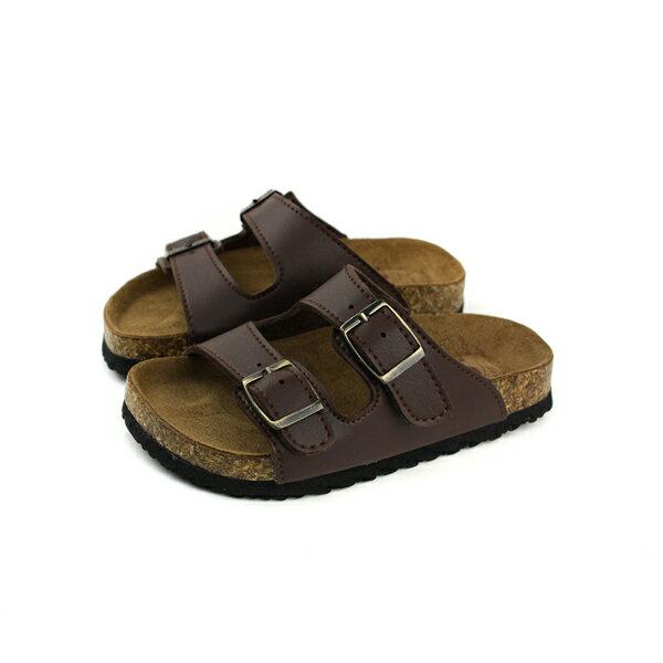 童鞋涼鞋勃肯鞋拖鞋式咖啡色中童7005-74no024