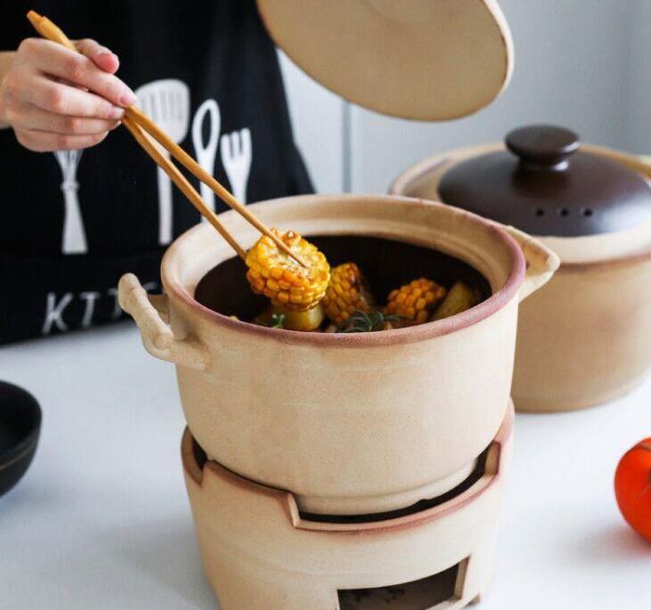 木炭爐子小火鍋陶土沙鍋家用傳統老式保溫打邊爐碳爐泥爐煲粗砂鍋 AT