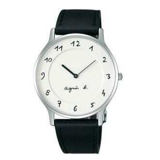 agnes b VJ20-K240LB(BJ5004X1)法式簡約時尚腕錶/白面39mm