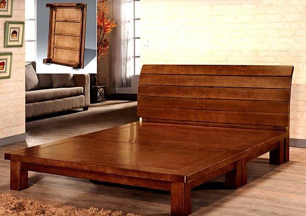 【尚品家具】 402-02 歐月楊木半實木5尺床底/床架-另有六尺