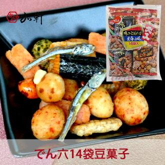 《加軒》日本でん六傳六北海之味 大入14袋豆菓子