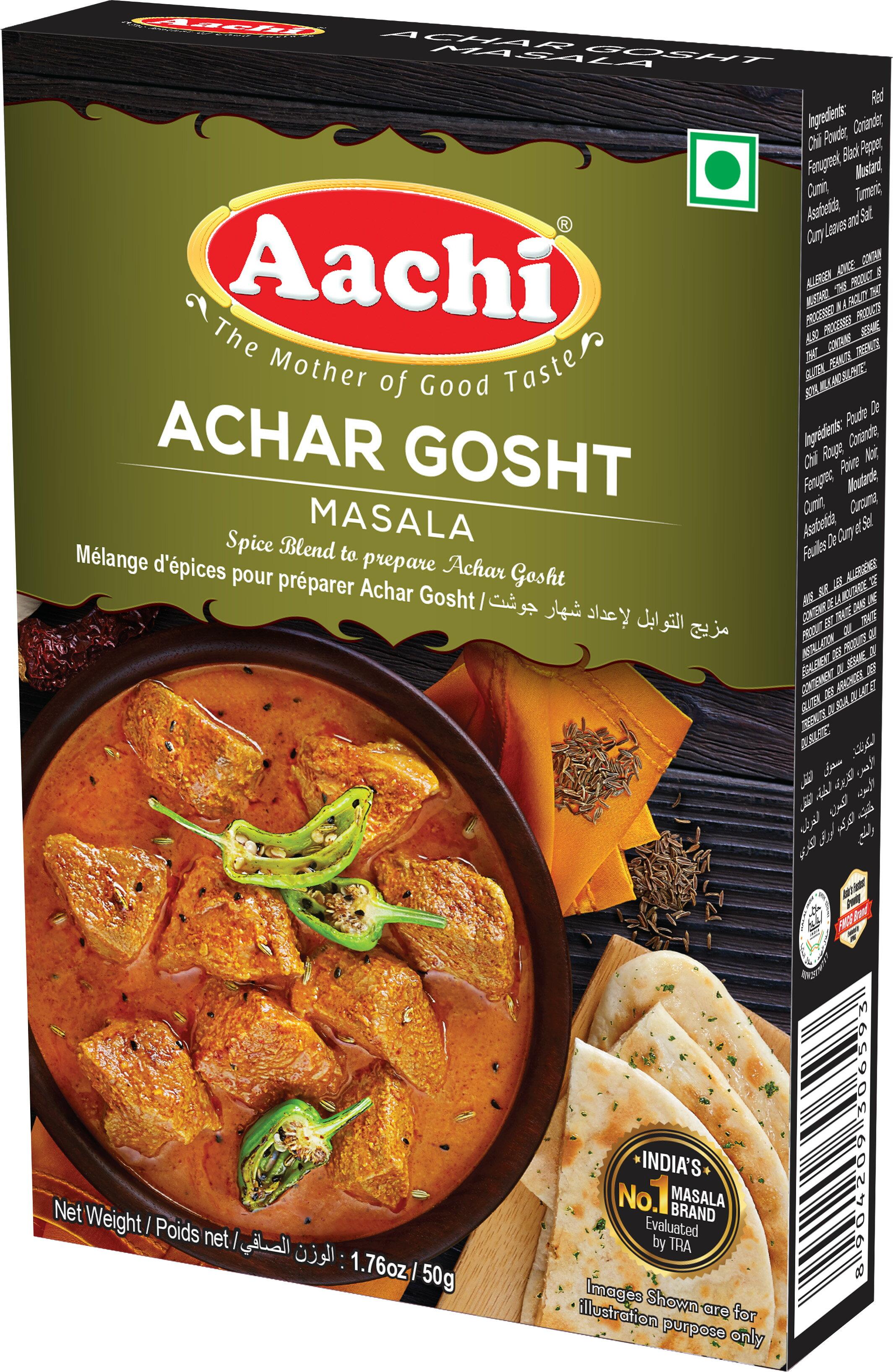 醃肉後煮肉咖哩粉 Achar Gosht Masala AACHI 50gm