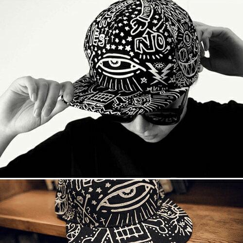 棒球帽 鴨舌帽 嘻哈 塗鴉遮陽中性 棒球帽~YJC~166~ BOBI 6 23