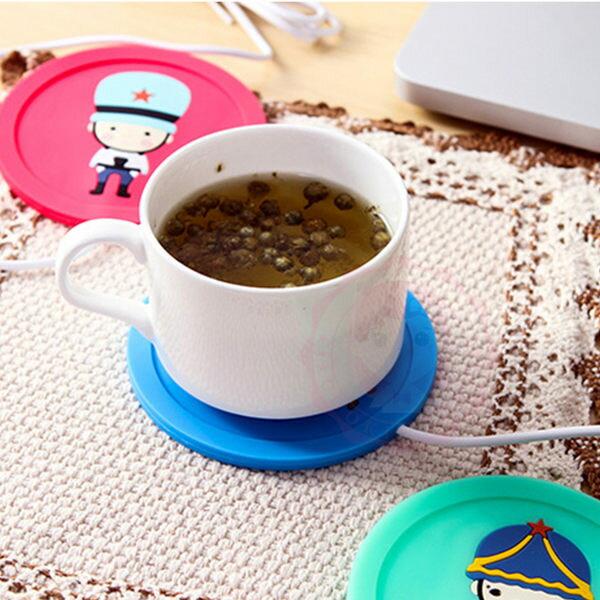 保暖小物可愛卡通USB矽膠保溫杯墊冬季必備暖手寶【庫奇小舖】
