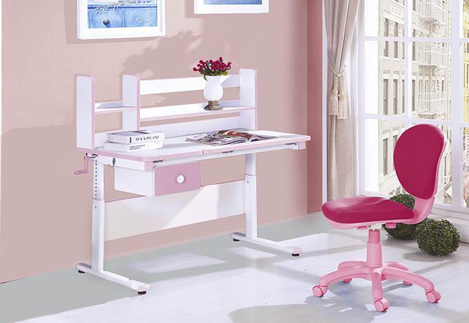 【尚品家具】JF-343-1 維尼4尺升降電腦書桌-粉色(含上架)