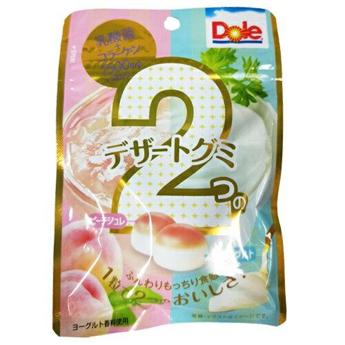 不二家 Dole雙味白桃優格軟糖40g【愛買】