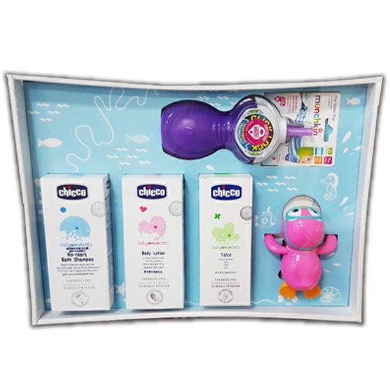 Chicco 寶貝嬰兒歡樂沐浴全效禮盒★愛兒麗婦幼用品★