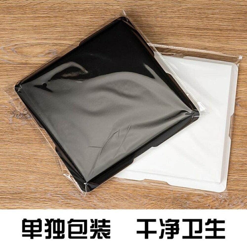 禮盒酷魚透明生日蛋糕盒子6 8 10 12 4寸雙層加高方形塑料包裝盒定制-快速出貨