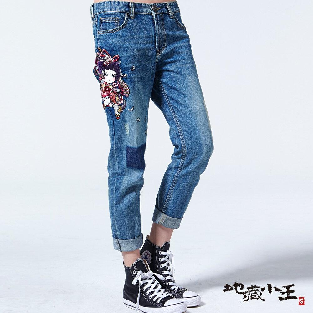 【專櫃新品】金魚姬舞扇羽毛男友褲(亮藍) - BLUE WAY  JIZO 地藏小王 0