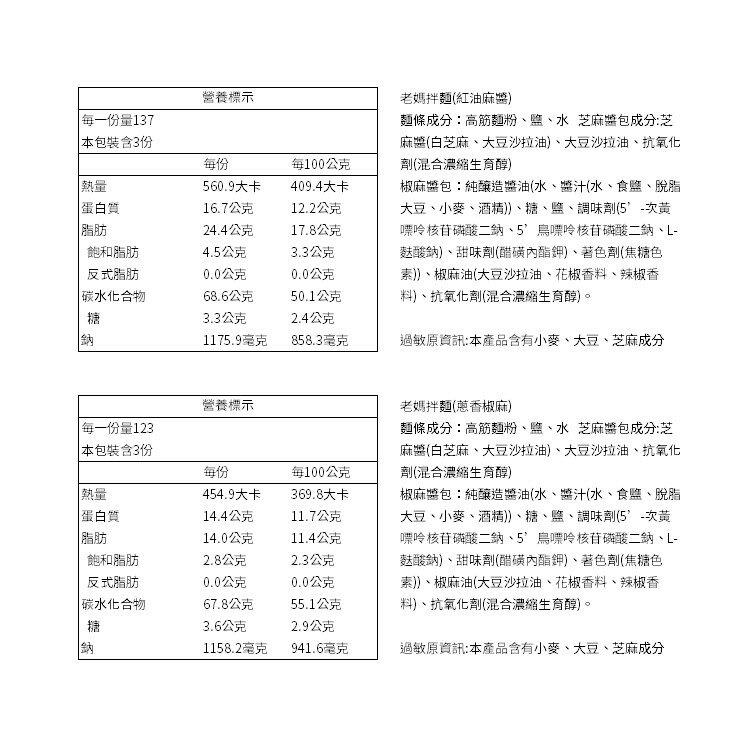 【老媽拌麵】蔥香椒麻(A-Lin好吃推薦)-3包/袋 五辛素