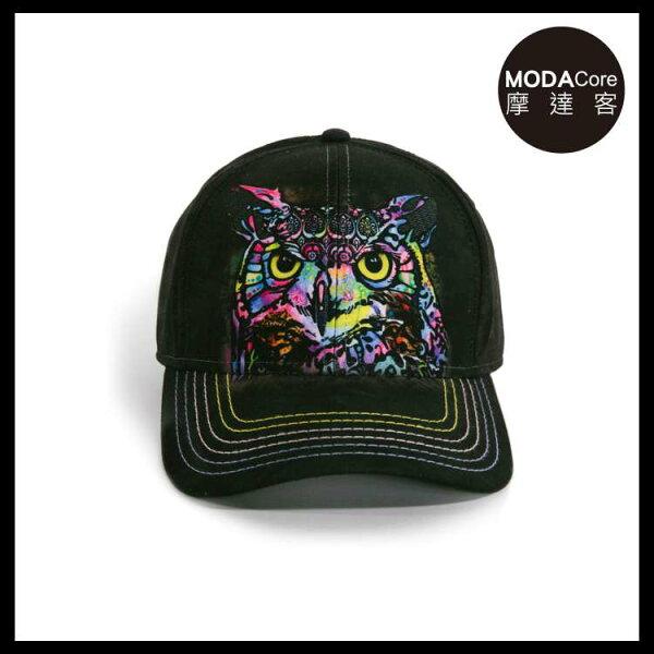 【摩達客】(預購)美國進口TheMountain藝術家DR系列彩繪貓頭鷹棒球帽6-Panel六分割帽