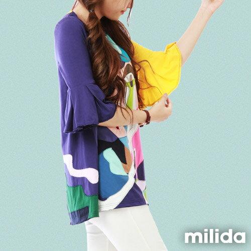 【milida】MMRYDP031☆五分喇叭袖甜美洋裝 3
