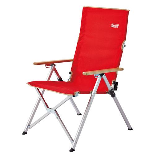 Coleman LAY躺椅/摺疊椅/露營椅/休閒椅 三段可調椅背 CM-26744 紅