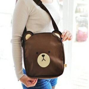 美麗大街【105040601】熊大造型防潑水肩背包側背包