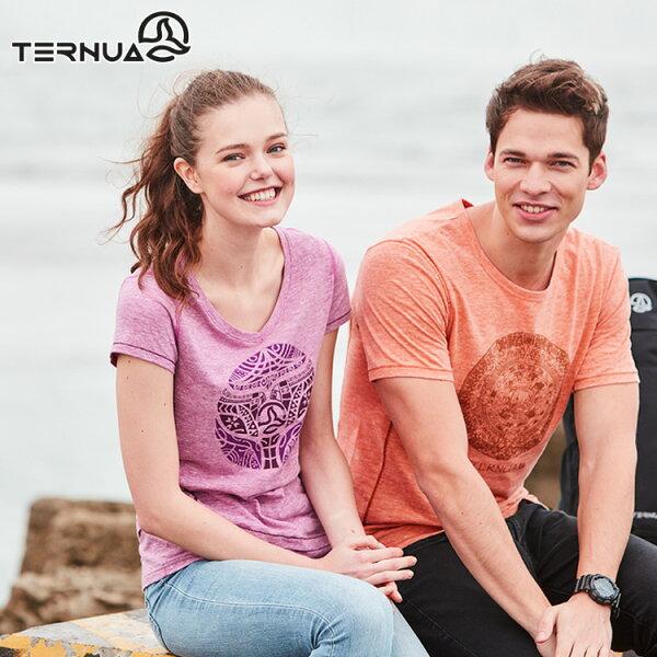 【西班牙TERNUA】女Natureshell有機棉T1206618城市綠洲(輕量、高透氣、防異味、排汗快乾)