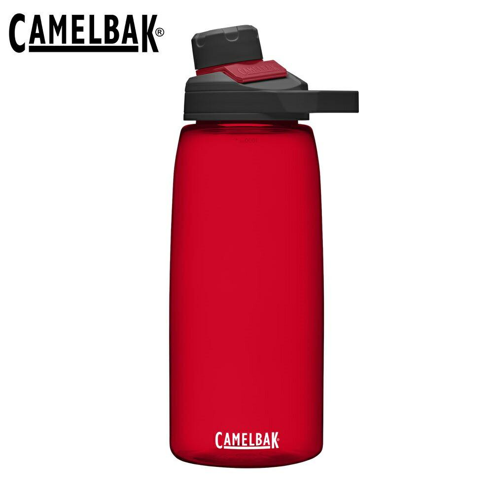 [ CAMELBAK ] Chute Mag水瓶 1000ml 石榴紅 / 戶外運動水瓶 / CB1513601001