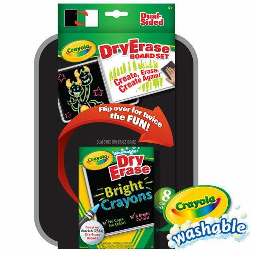 《 美國 Crayola 繪兒樂 》可水洗雙面板蠟筆套裝