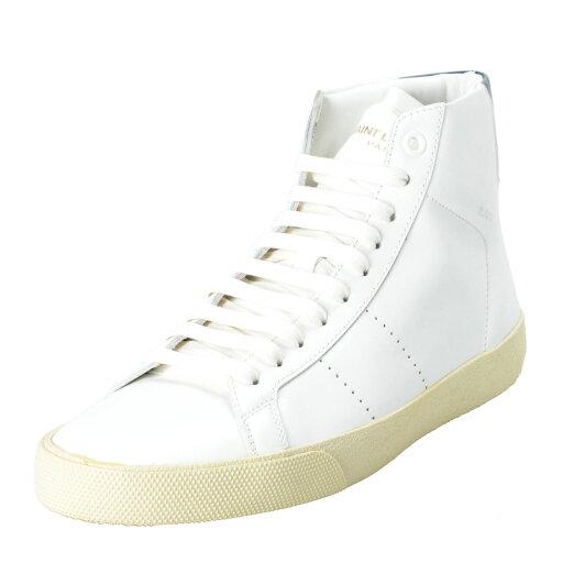Saint-Laurent-Womens-White-Leather-Hi-Top-Fashion-Sneakers-Shoes