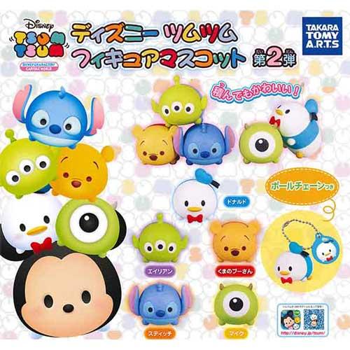 全套5款【日本進口】TSUM TSUM 疊疊樂 吊飾 第二彈 P2 扭蛋 迪士尼 TAKARA TOMY - 855641