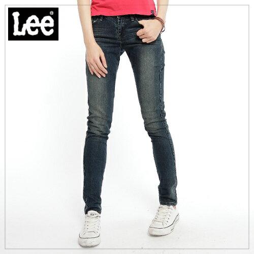 【精選丹寧褲↘999起】 Lee 牛仔褲418 低腰緊身窄管 -女款(中古藍)