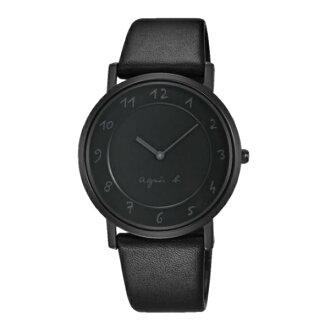 agnes b 7N00-0BC0N(BG4008P1)法式簡約時尚腕錶/黑面33mm