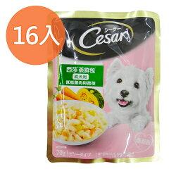 西莎 蒸鮮包-成犬用 低脂雞肉 南瓜‧胡蘿蔔 70g (16入)/盒