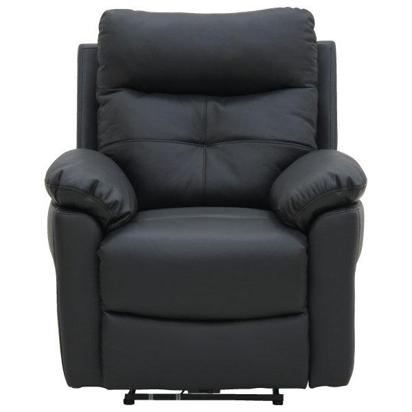 ◎(OUTLET)半皮1人用電動可躺式沙發 MEGA BK 福利品 NITORI宜得利家居 1