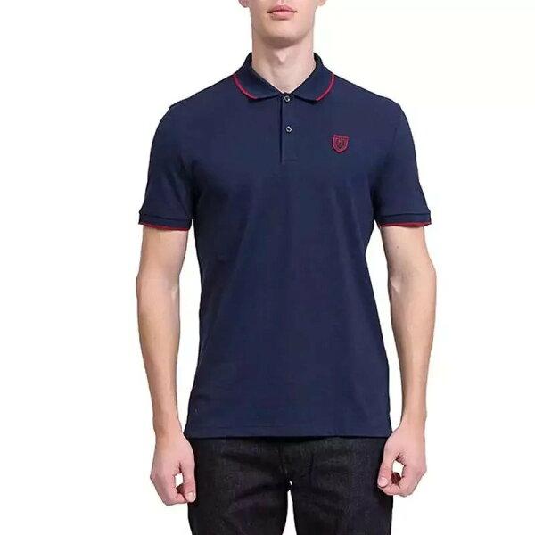 Boss時尚拼接設計男款翻領短袖POLO衫