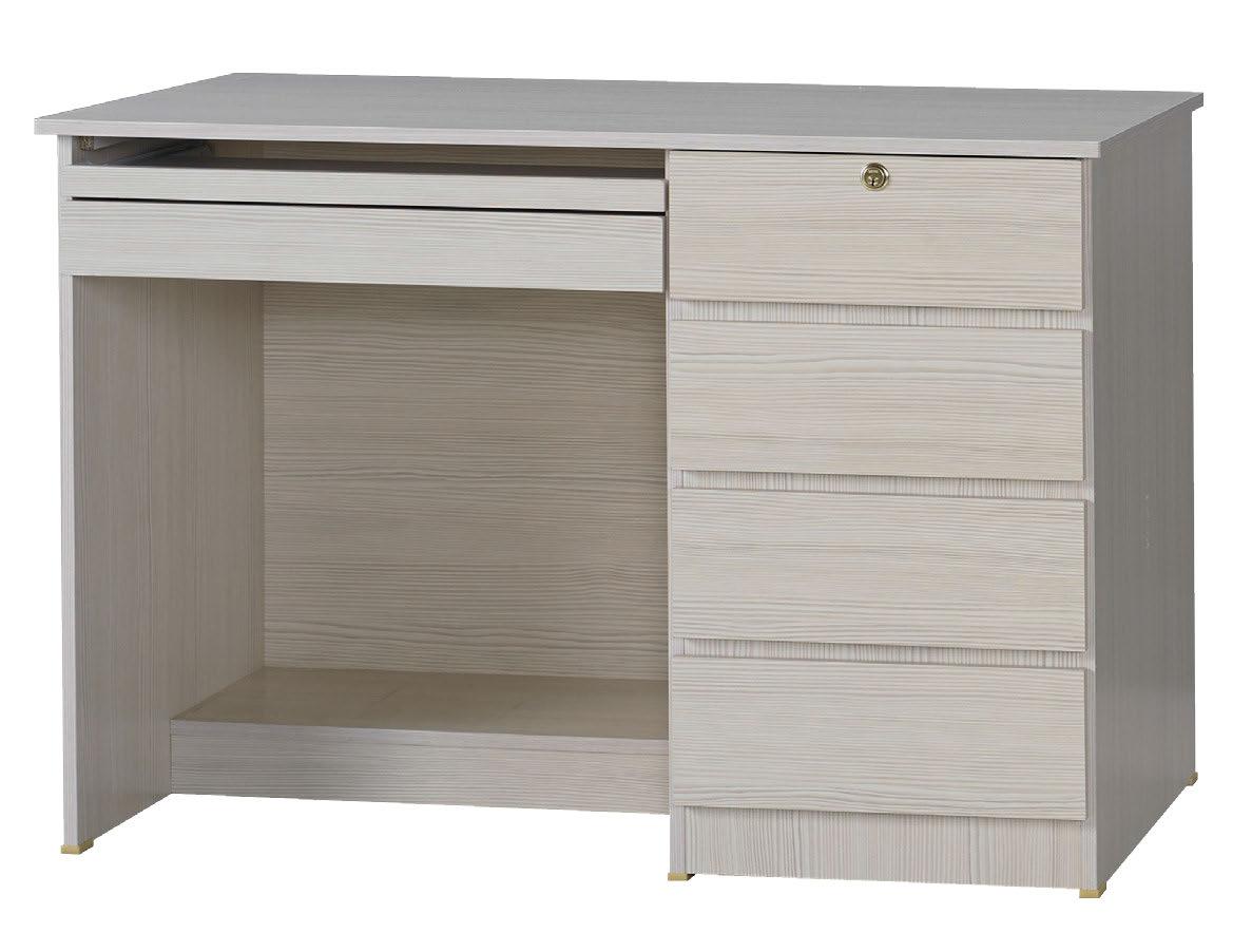 【尚品家具】  JF-351-5 資訊3.5尺雪山白電腦桌下座