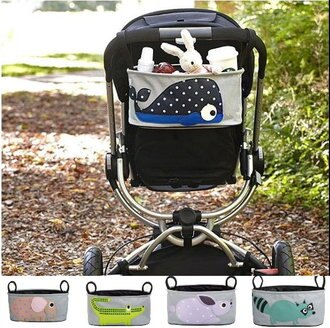 可愛動物外出推車掛籃嬰兒車掛袋儲物袋收納袋/單售