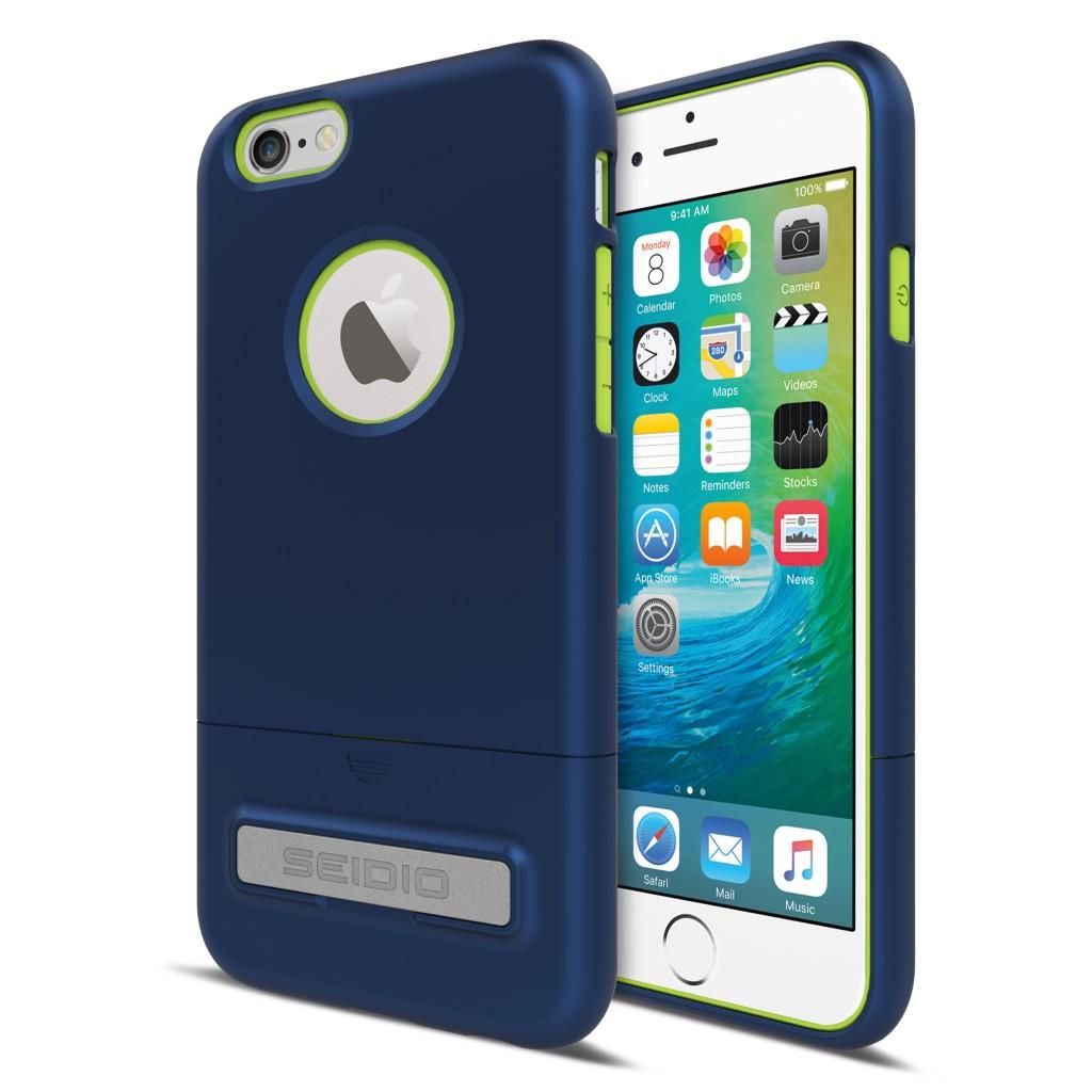 New SURFACE™ 都會時尚雙色保護殼 for iPhone 6 Plus / 6S Plus - 科技藍