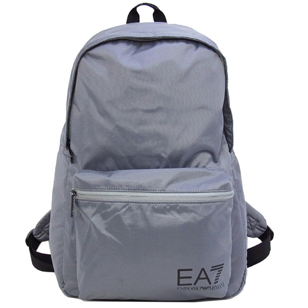 EMPORIO ARMANI EA7 經典品牌圖騰LOGO後背包(灰)