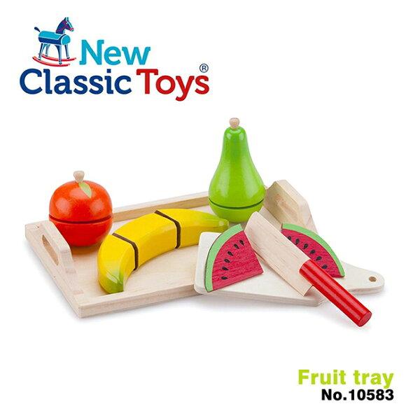 【荷蘭NewClassicToys】水果托盤切切樂10583