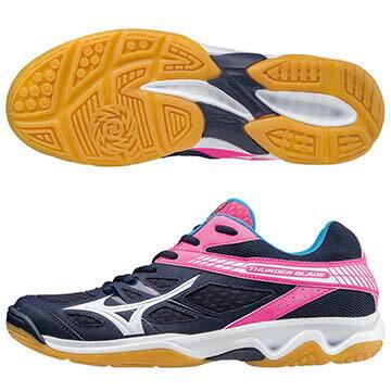 V1GC177002(深丈青X白X桃紅)高CP值 THUNDER BLADE 女排球鞋 A【美津濃MIZUNO】