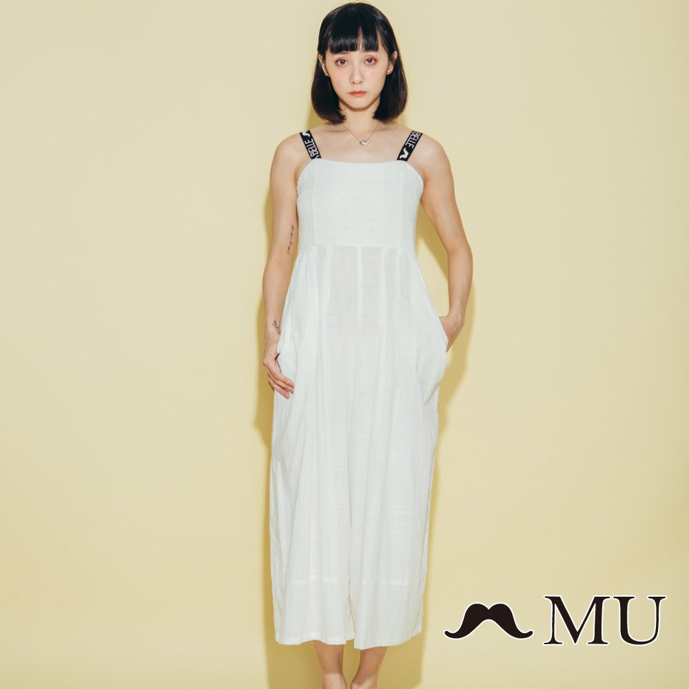 【MU】超美織帶連身寬褲洋裝 8327163 3
