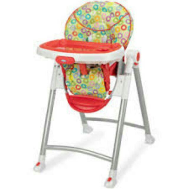 【寶貝樂園】美國GRACO 可調式高低餐椅 Contempo點點紅