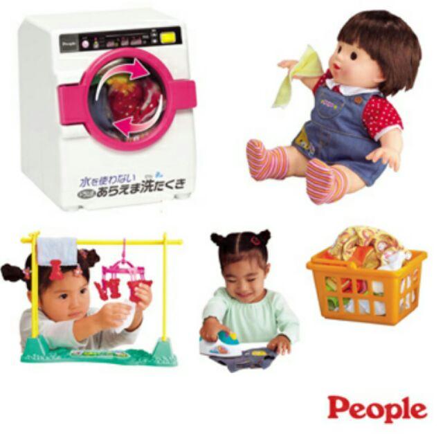 【寶貝樂園】POPO-CHAN滾筒洗衣機組合-彩色