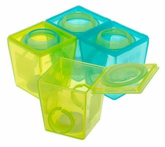 【寶貝樂園】英國Brother max副食品防漏保鮮分裝盒(大號170 ml *4 )