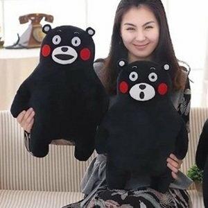 美麗大街【105122193】小款熊本熊毛絨玩具日本黑熊公仔玩偶布娃娃抱枕兒童禮物(30公分)