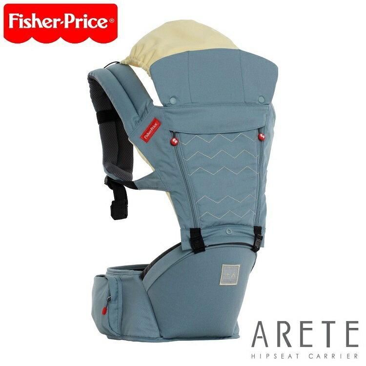 【Fisher-Price費雪】ARETE艾瑞特腰凳式揹巾(背巾)-湖水藍 0