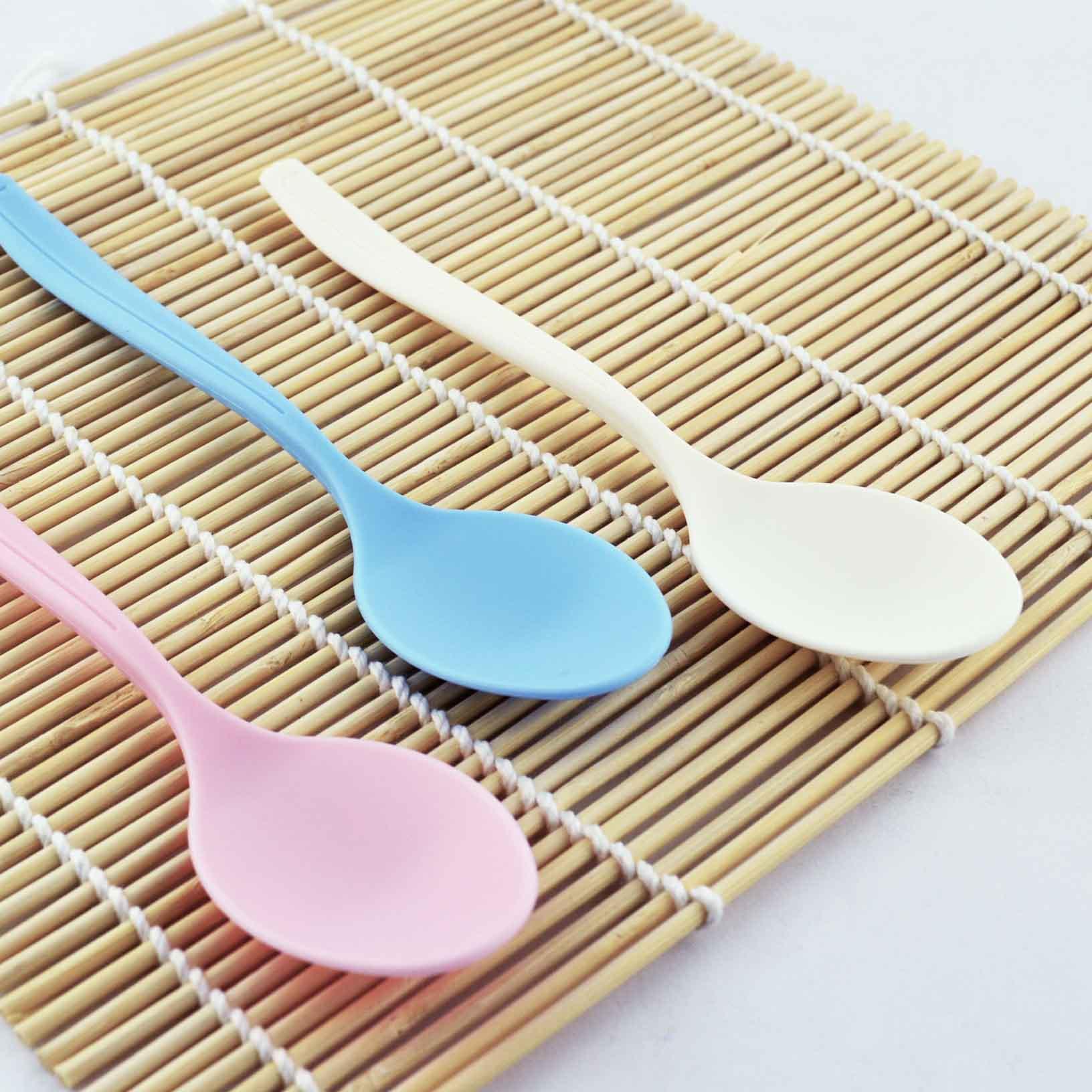 美味極厚餐匙 單一顏色10入/免洗餐具/免洗湯匙 台灣製