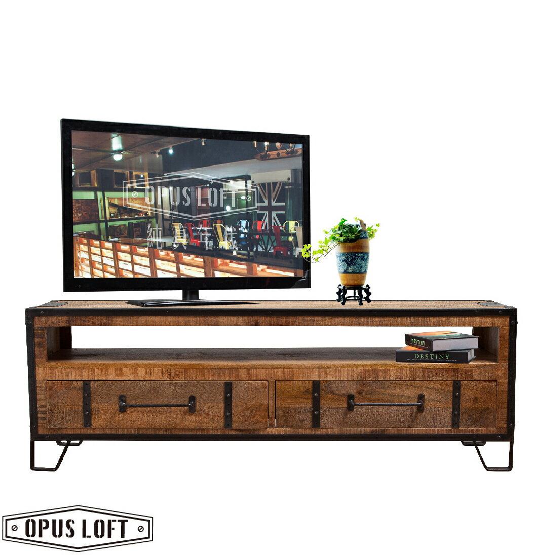 LOFT工業風 法式鐵框雙抽電視櫃