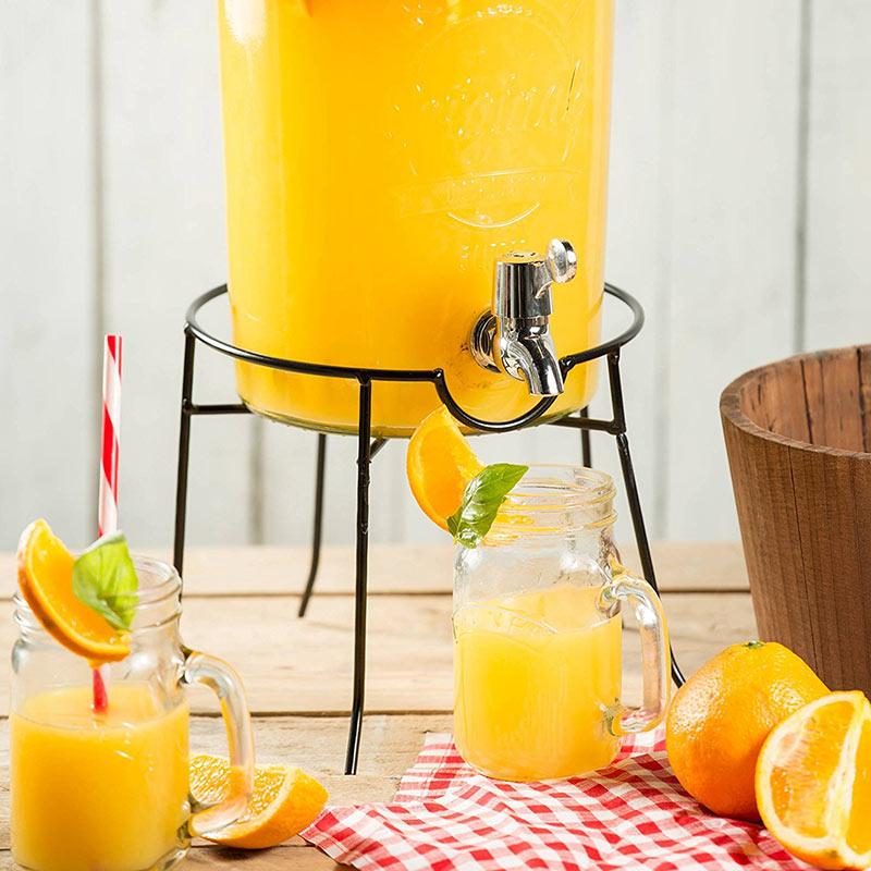 《 Kilner 》玻璃飲料桶圓鐵架
