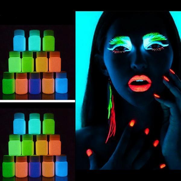 UV Glow Neon Body Paint Pigment 20ml and Fluorescent Super Bright 2
