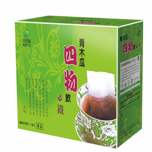 港香蘭 青木瓜四物飲+鐵 20包【德芳保健藥妝】