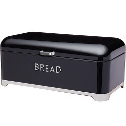 《KitchenCraft》Lovello麵包收納盒(黑)